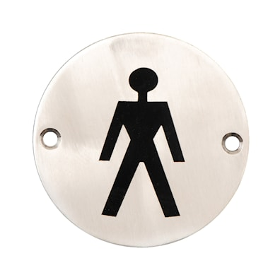 Door Sign Male 75mm SSS disc