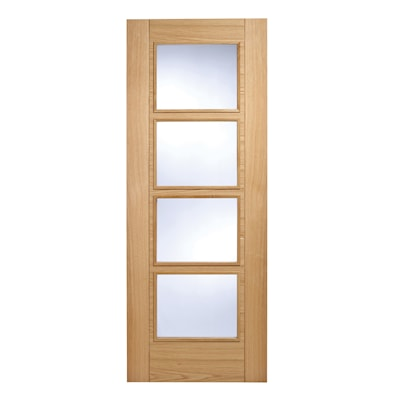 Vancouver Oak 4 Light Glazed Internal Fire Door 1981x762mm