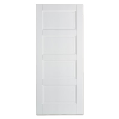 Contemporary 4 Panel White Primed Internal Door 1981x762mm