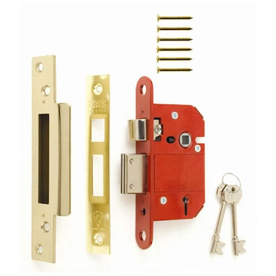Fortress 5 Lever Sashlock 76mm Brass BS3621