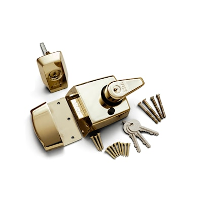High Security Nightlatch 60mm Brass BS3621
