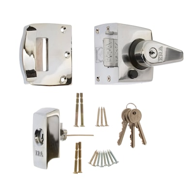 High Security Nightlatch 40mm Polished Chrome BS3621