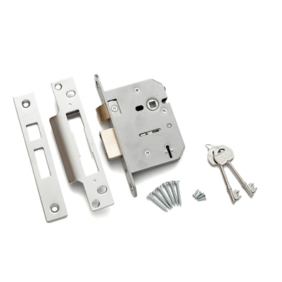 5 Lever Mortice Sashlock 76mm Chrome Effect