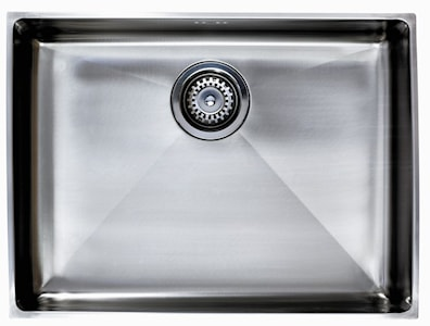 Asracast Onyx Square Undermount/Inset Sink 4050 Large Bowl Stainless Steel