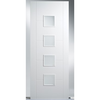 Florida White Primed Glazed Internal Door 2032x813mm