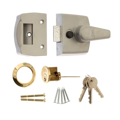 Replacement Door Lock 40mm Satin Chrome