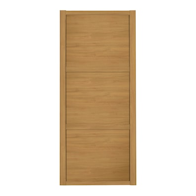 Shaker 610mm 3 Panel Oak Sliding Door and Frame