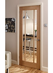 Langdale Oak 3 Light Glazed Internal Door Oak Amp Hardwood