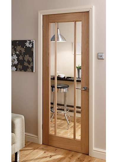 Langdale Oak 3 Light Glazed Internal Door 1981x762mm
