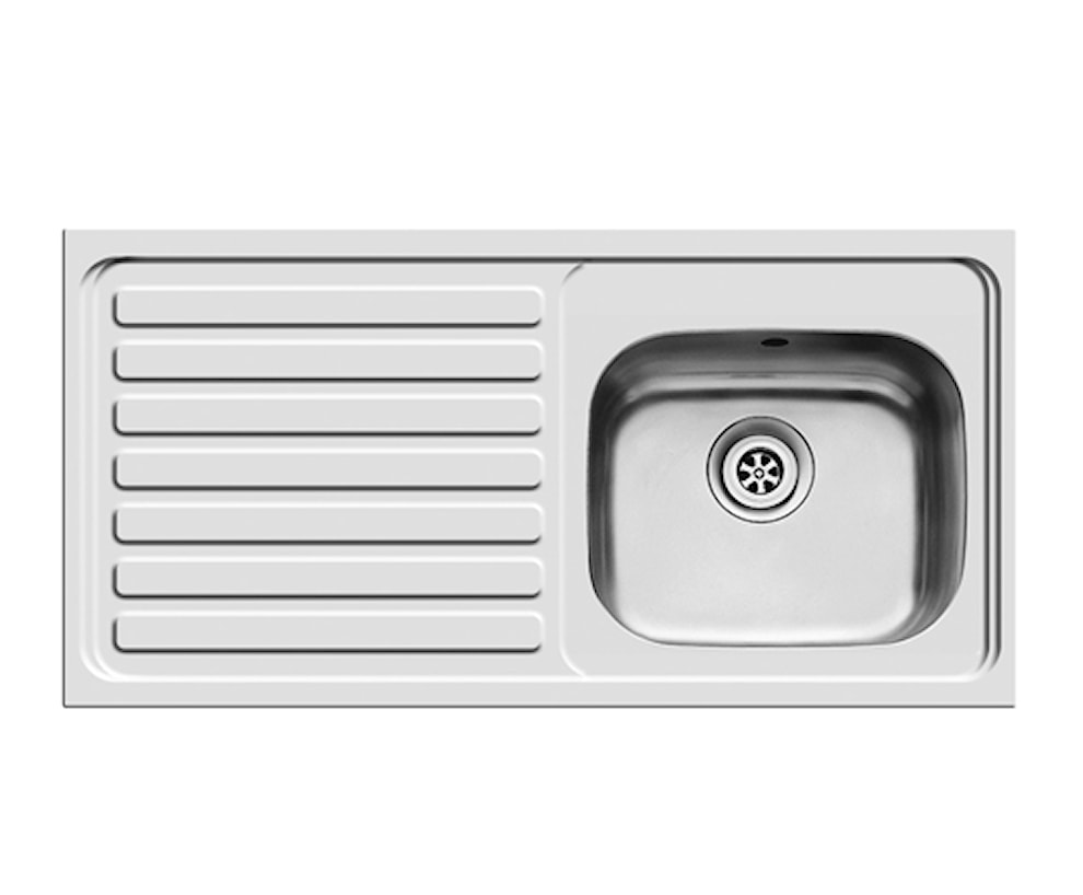 BS 1B1D Left Hand Roll Front Stainless Steel Sink Sinks