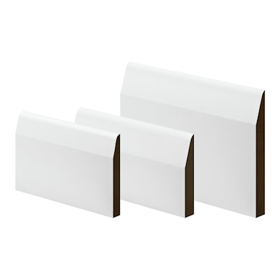 MDF Primed Chamfered & Round Architrave/Skirting 18 x 75 x 4200mm