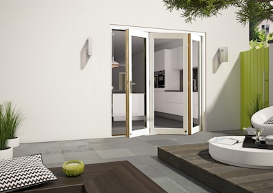 Aluminium Clad White External Folding Door Sets 2090 x 2690mm