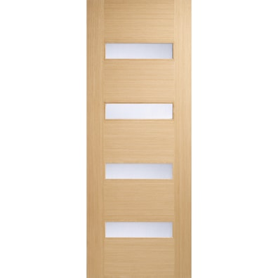 Monaco Oak Glazed Internal Door 1981x686mm