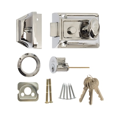 Traditional Door Lock 60mm Chrome