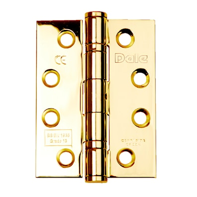 Ball Bearing Hinge pair CE13 Polished Brass FD30/60