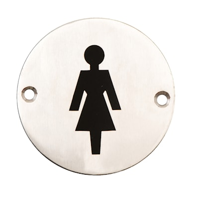 Door Sign Female 75mm SSS disc