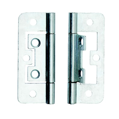 Flush Hinge pair Satin Stainless Steel 75 x 50mm