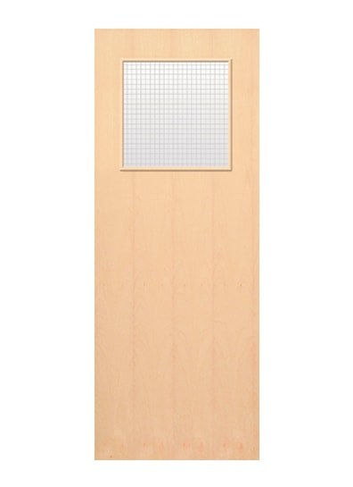 Paint Grade Glazed External Fire Door