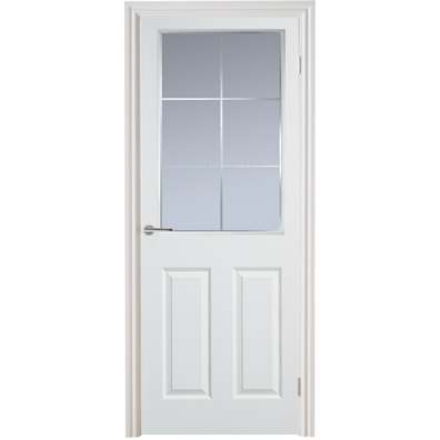 Manhattan 6 Light Glazed Smooth Internal Door 1981x762mm