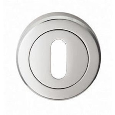 Linea Keyhole Escutcheon On Screw Rose Polished Chrome