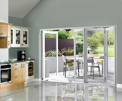 White Pre-finished External Folding Doors 2090 x 2990mm