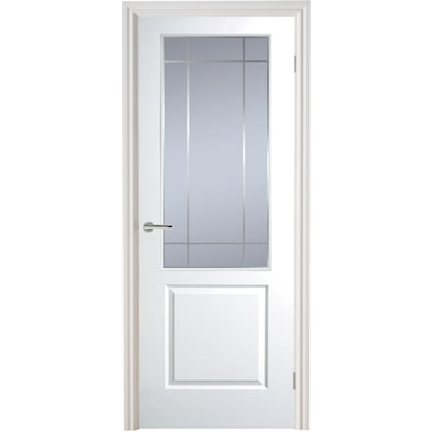 Manhattan Half Light Glazed Smooth Internal Door 1981x762mm
