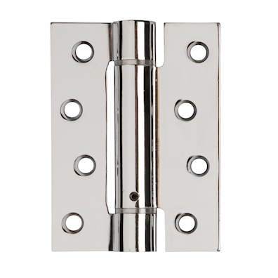 Self Closing Fire Door Hinges Polished Chrome Plated 102 x 76mm