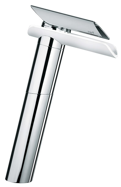 Waterfall Contemporary Tap Chrome + White