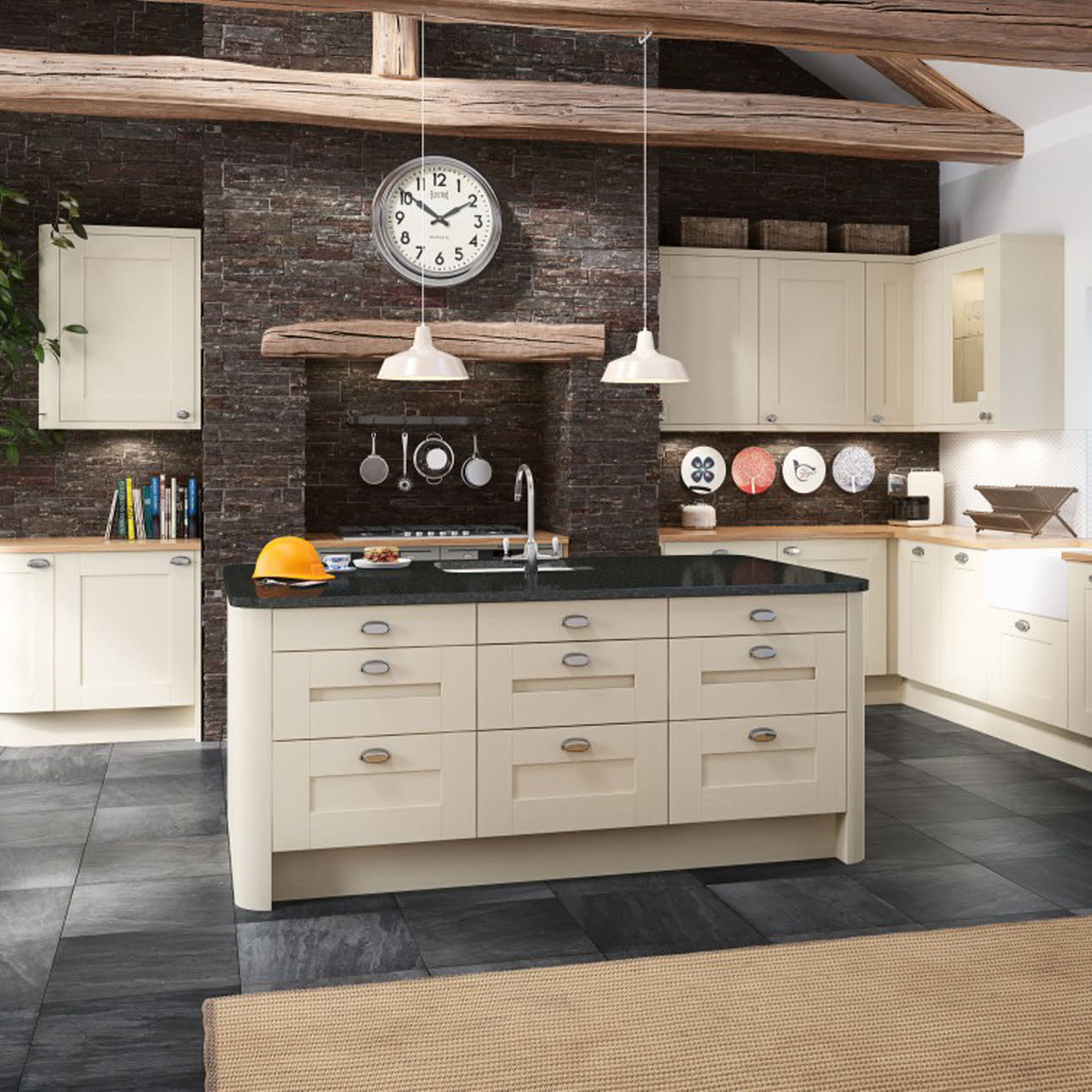 Winchester Cream shaker kitchen