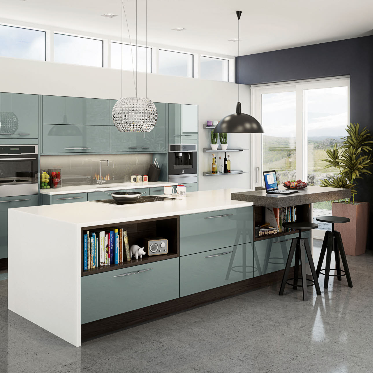 Integra Fusion Blue Kitchen Style Range Magnet Trade