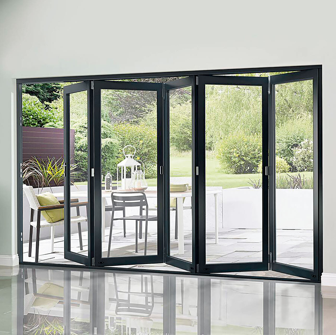 Kitchen Outside Doors: Bifolding Doors