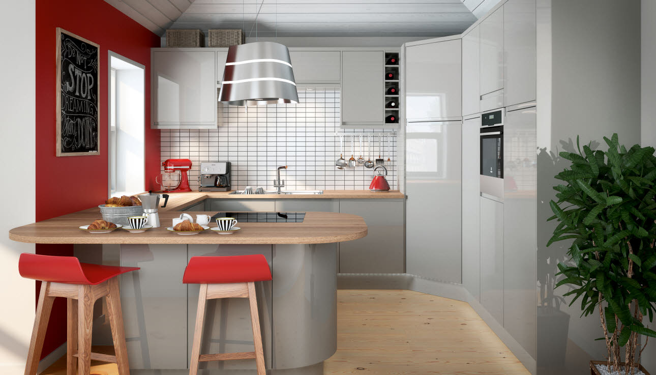 Planar Grey Kitchen Style Range Magnet Trade - Light grey kitchen units