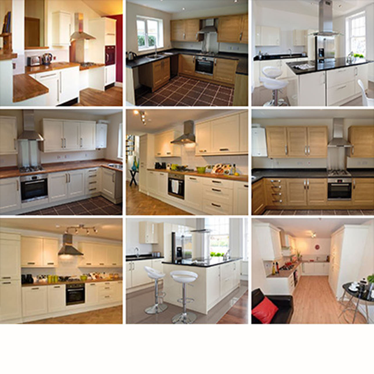 Collection of installed Magnet Ltd. Kitchens