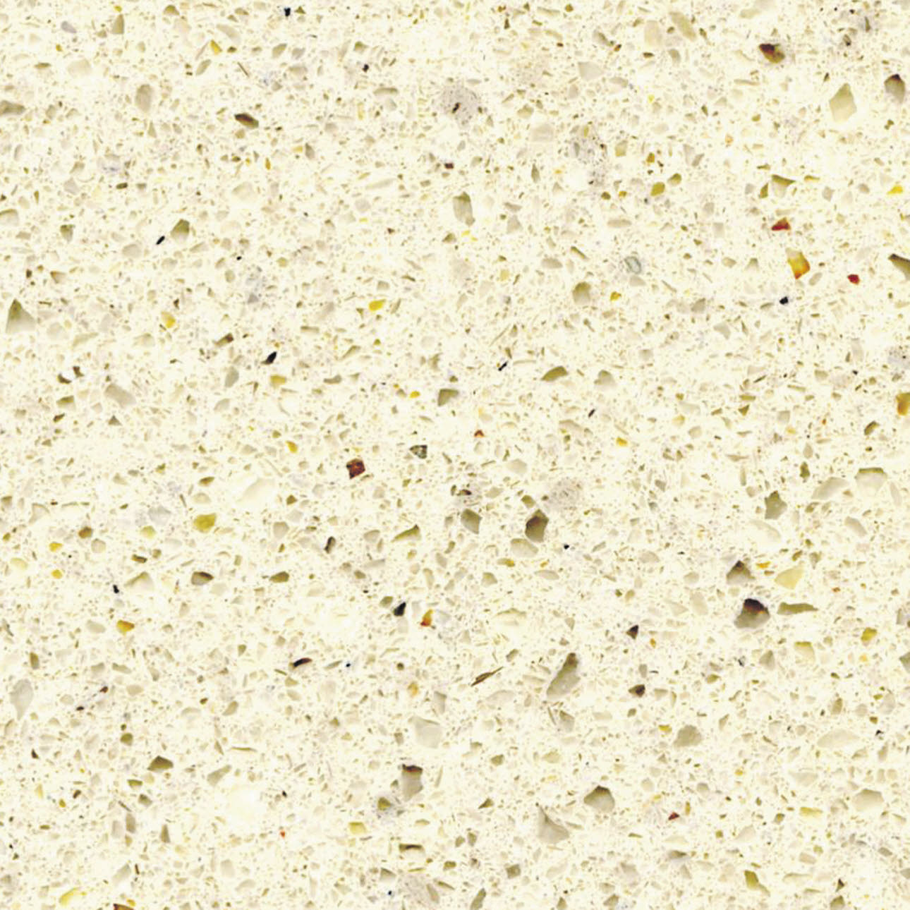 Sienna Quartz granite kitchen worktop, close up