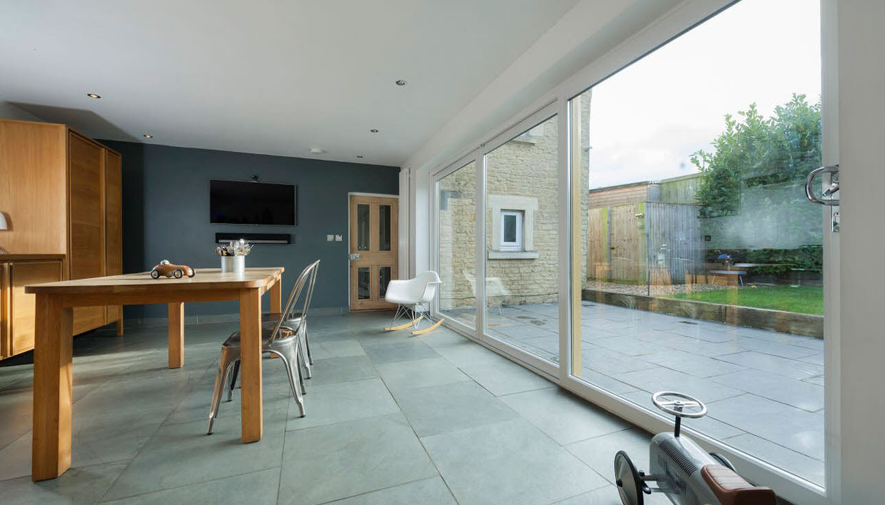 White Large Patio Doors