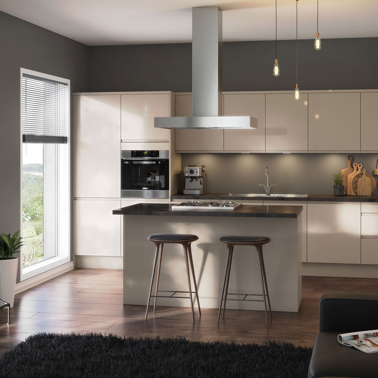 Luna cashmere kitchen style kitchens magnet trade for Coloured kitchen units uk