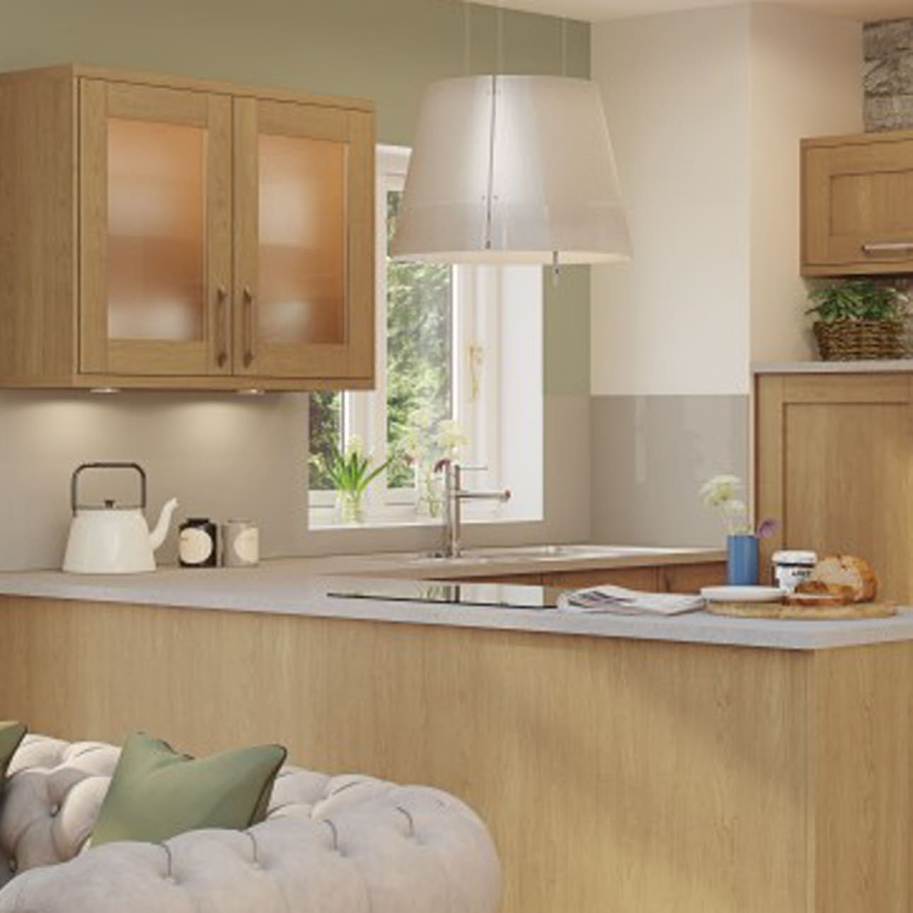 Tatton Oak shaker kitchen
