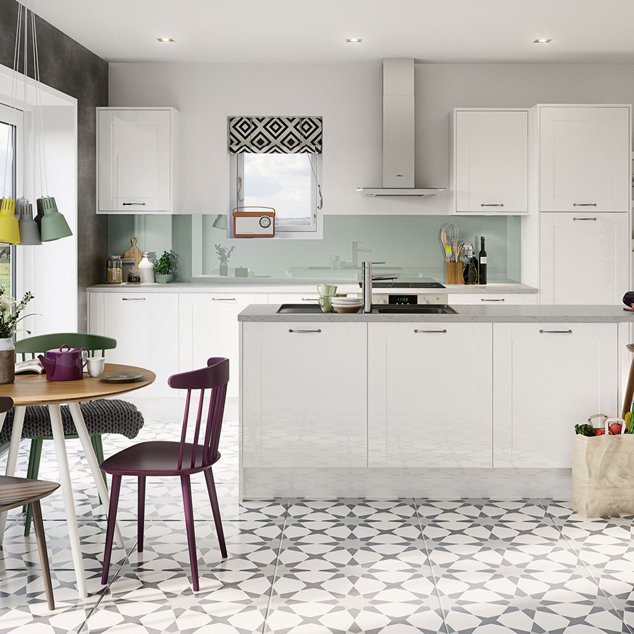 Magnet Kitchens Gloss White Shaker