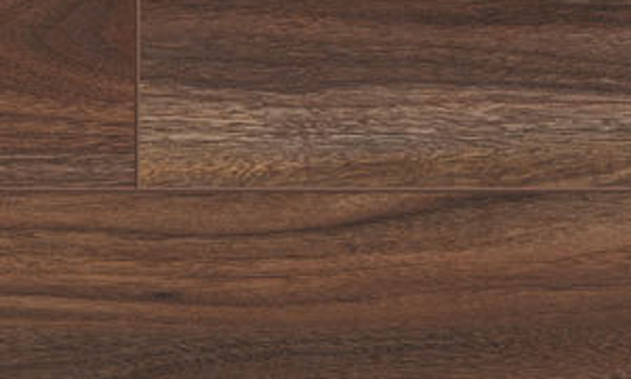 Dark walnut flooring, close up