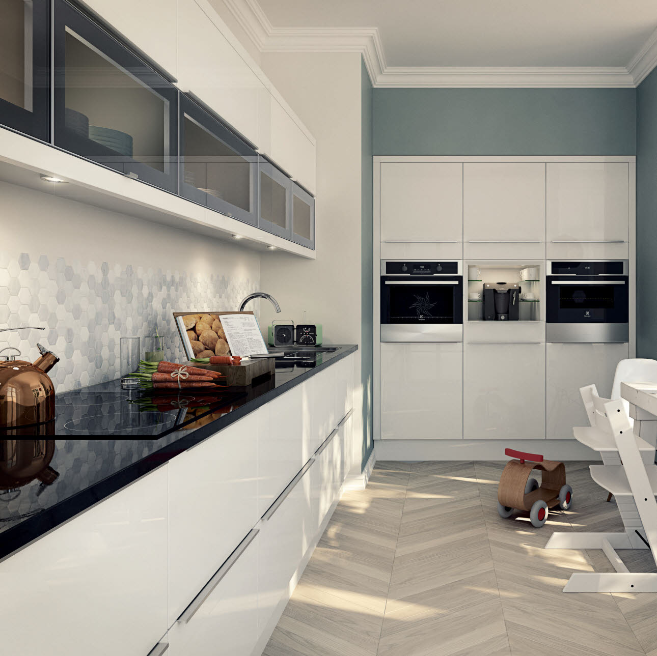 Engineered Oak Flooring Magnet: Accessibility Kitchens