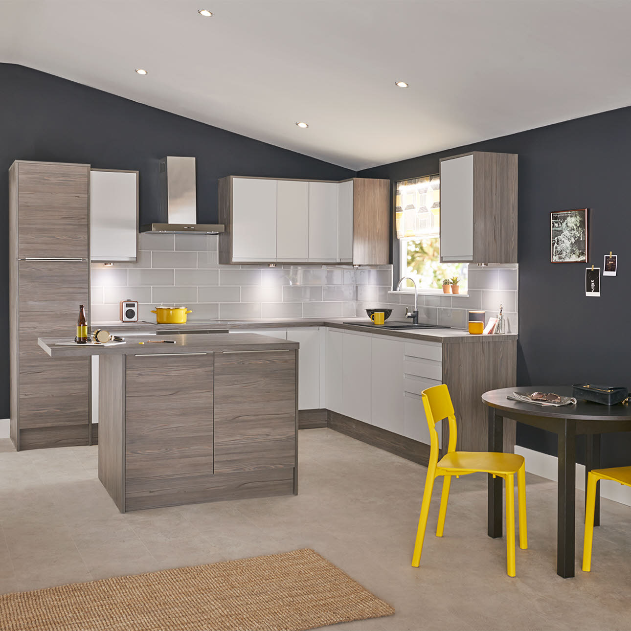 Luna Matt Grey Kitchen Style Range Magnet Trade