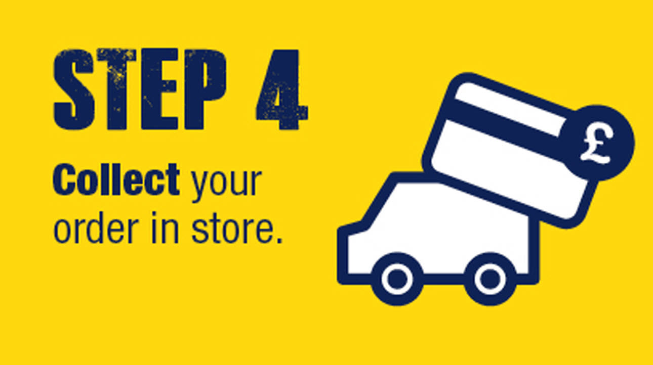 Click & collect logo, step 4 - collect in store