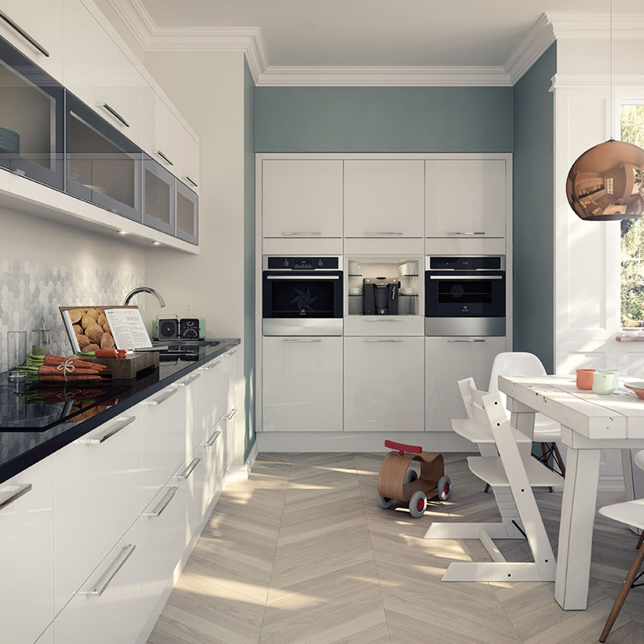 Magnet Kitchens Studio White