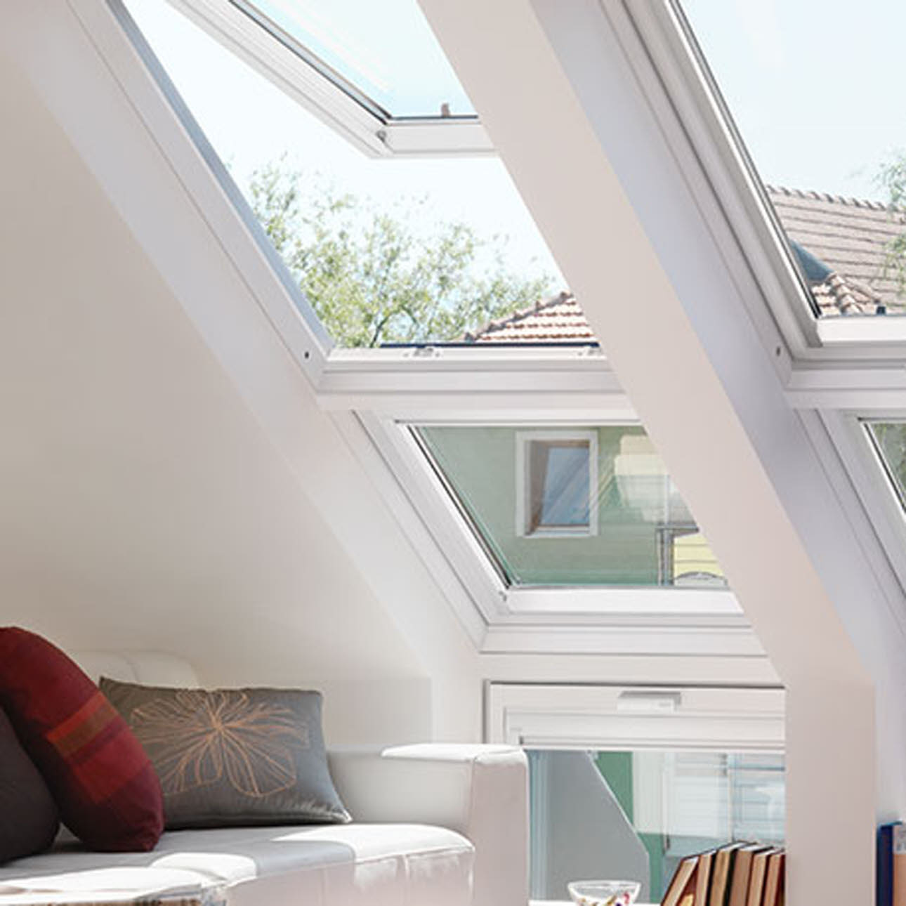 Sloping Velux Window in a living room