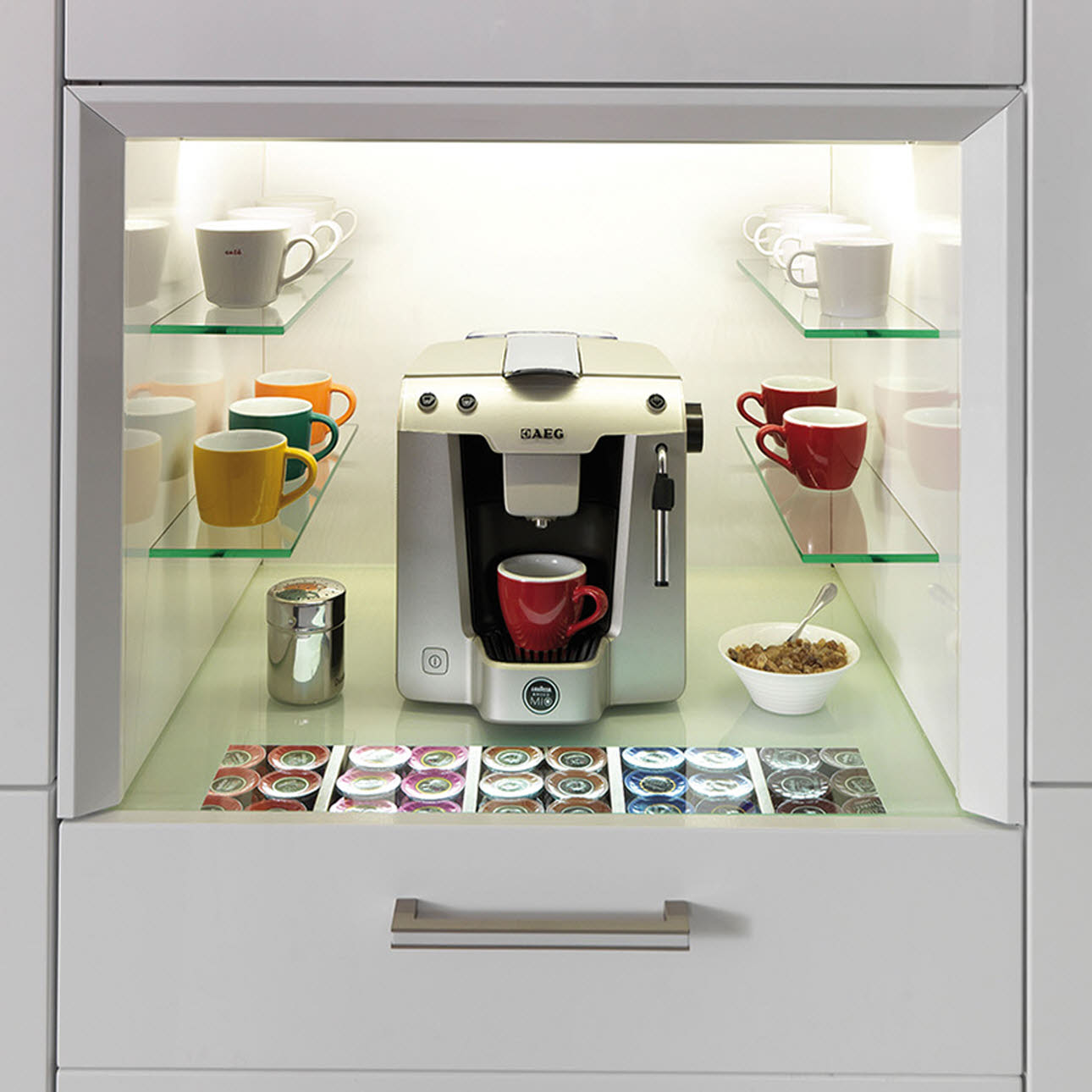 AEG FavolaPlus Frosted Almond Black Coffee Machine
