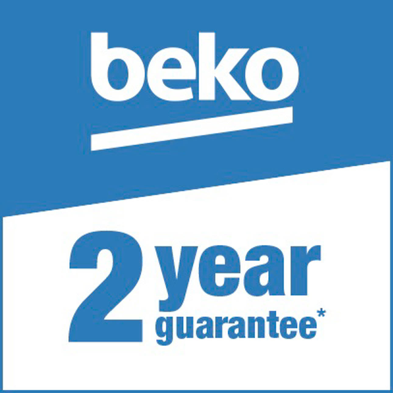 Beko 2 year guarantee logo