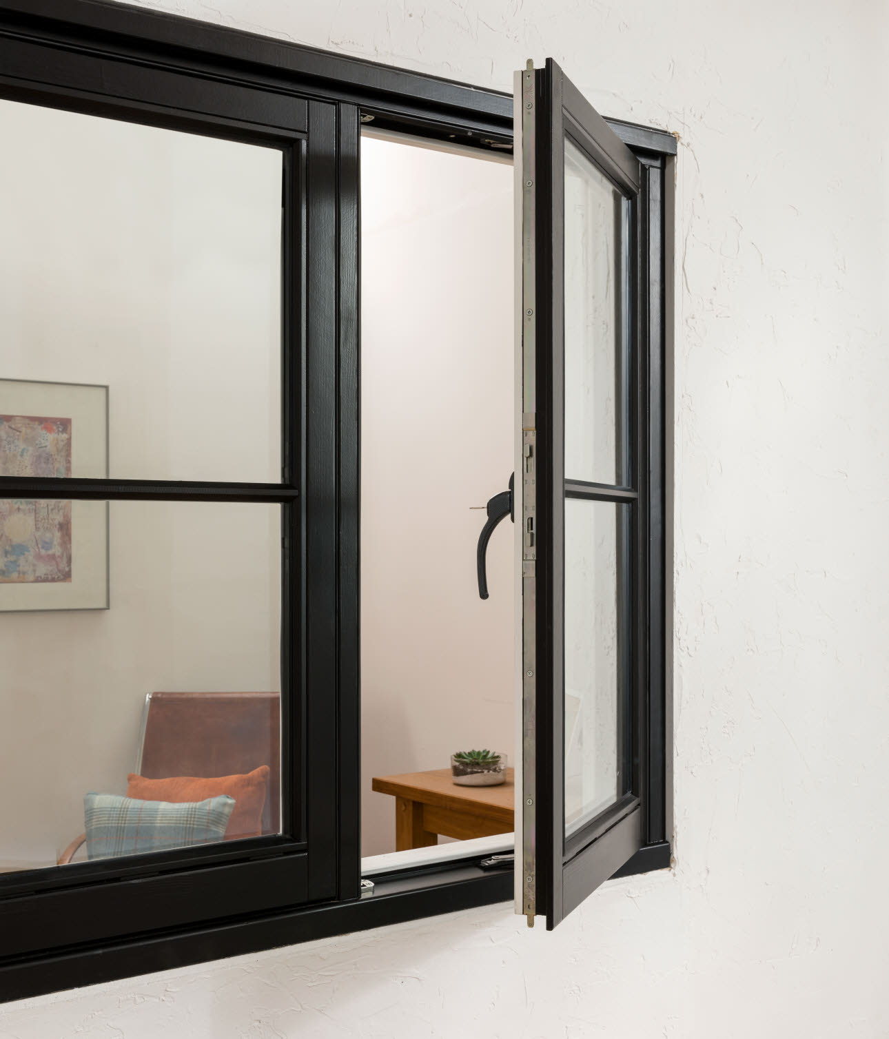 JELD-WEN Elegance Horizontal Bar Black Timber Window