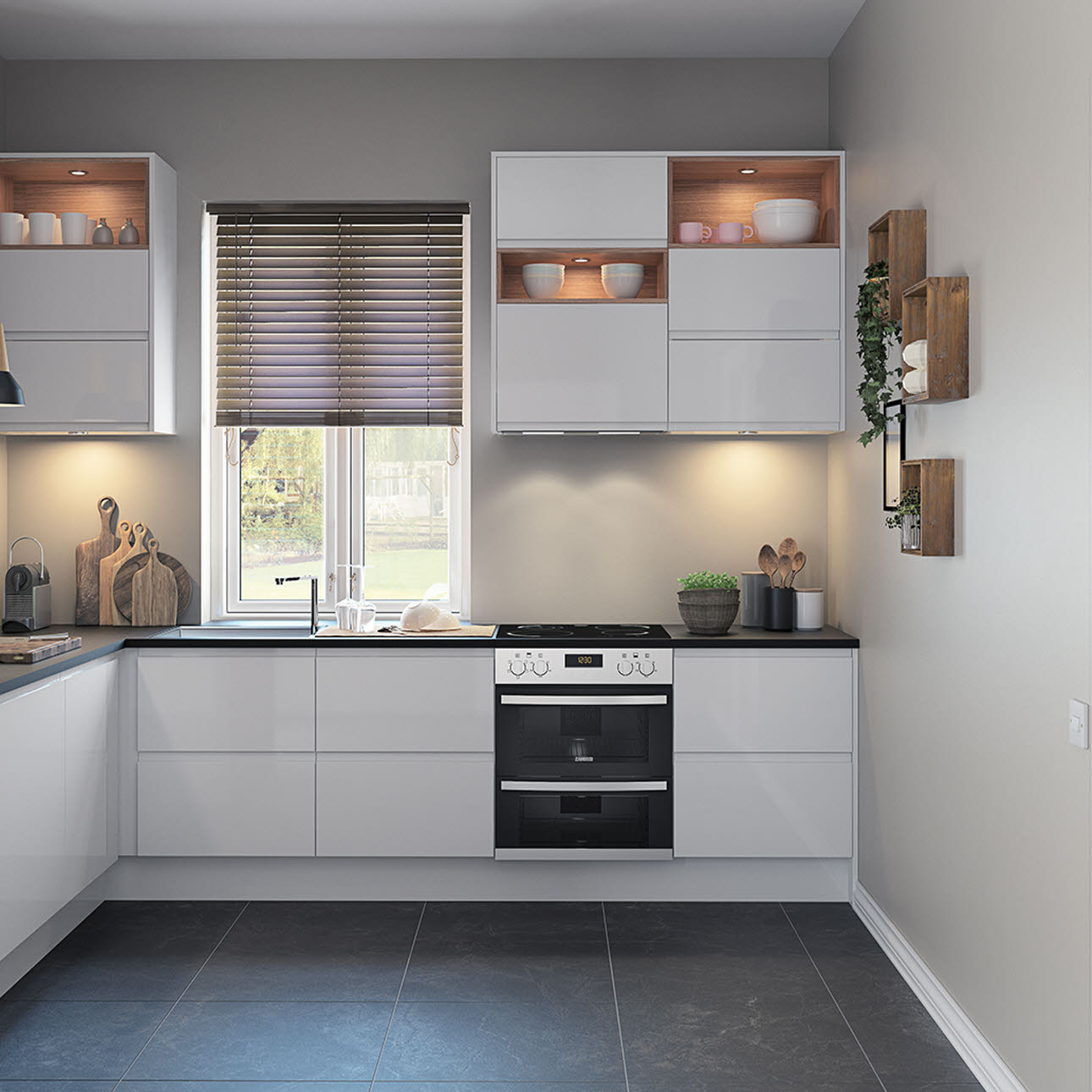Integra fusion white kitchen styles range magnet trade for Kitchen design for units