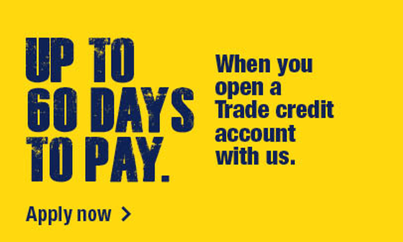 Up to 60 days to pay for account holders, logo