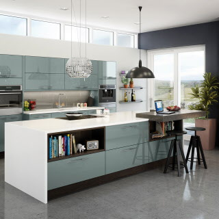 Magnet Kitchens Fusion Blue